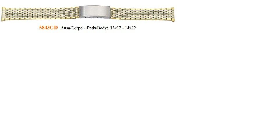 Cinturino Metallo 5843GD