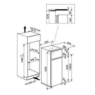Hotpoint T 16 A2 D/HA Incasso 240L A++ Bianco frigorifero con congelatore