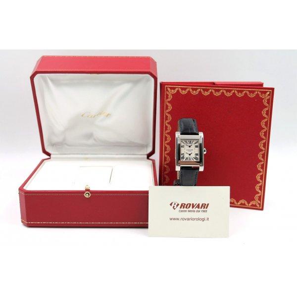 Cartier Tank Dual Time 2552 White Gold Privè Collection