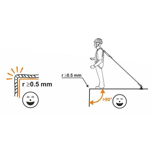 SHOCK ABSORBER LIMITED ROPE SINGLE 150 cm + 0981 + 2017 - Cordino
