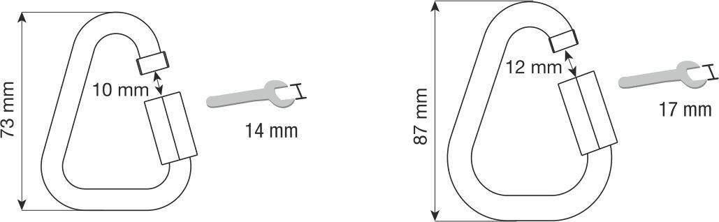 DELTA QUICK LINK STEEL 8 mm - Maglia rapida