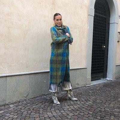 Cappotto turchese ITALIAN FASHION