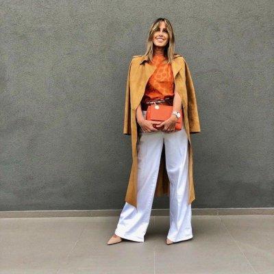 Camicia arancio Guglielminotti
