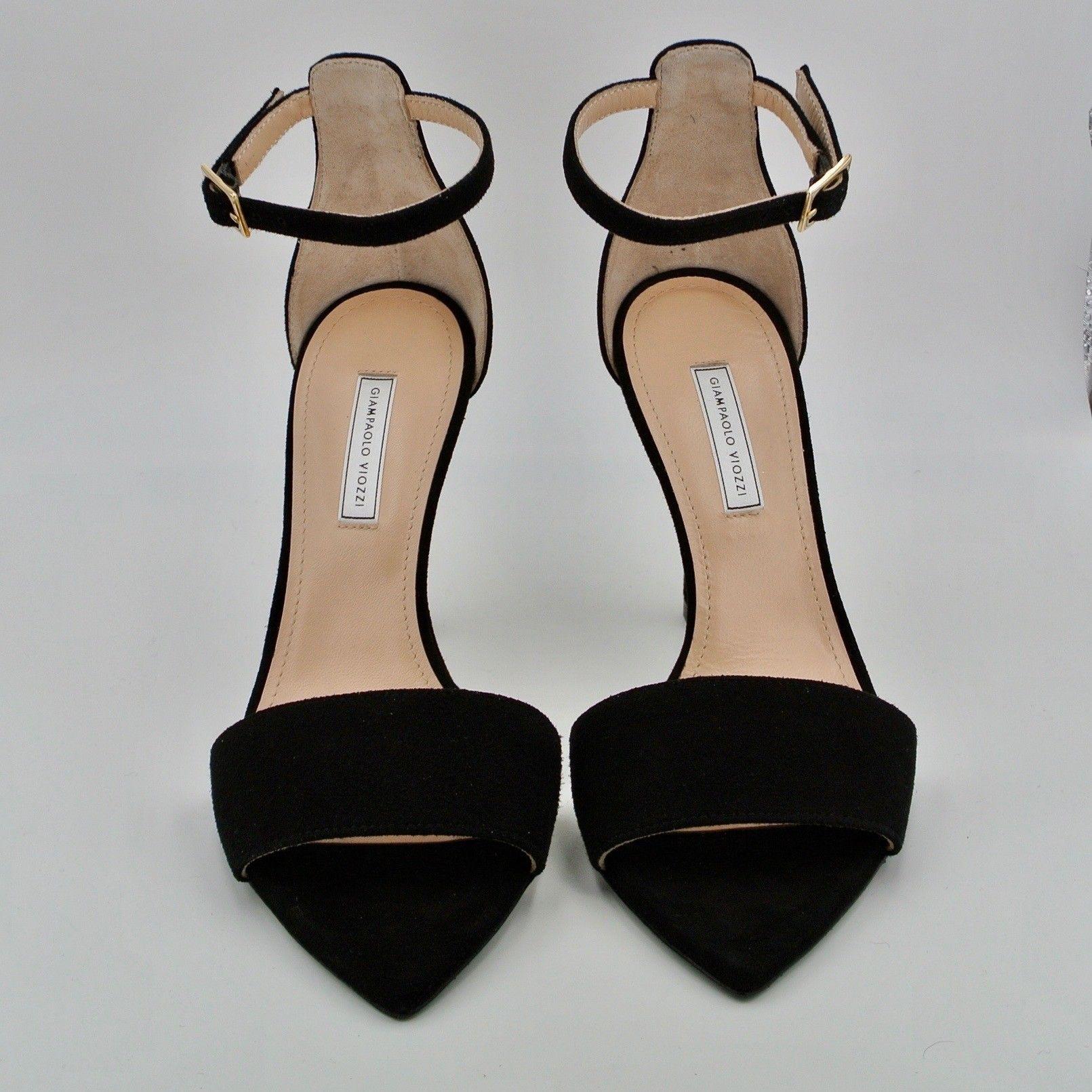 Sandalo camoscio nero LE VIOZZI