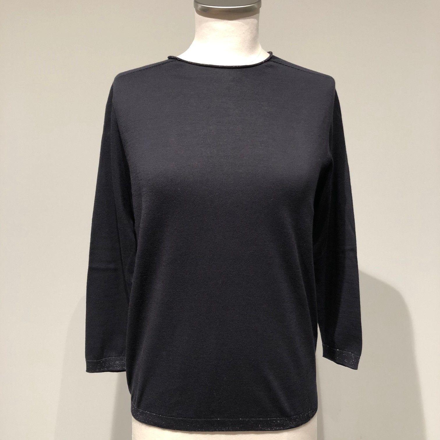 Maglia tricot blu CAPPELLINI