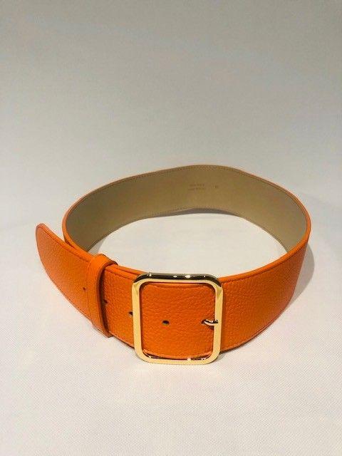 Cintura vitello arancio PELLETTERIA G4