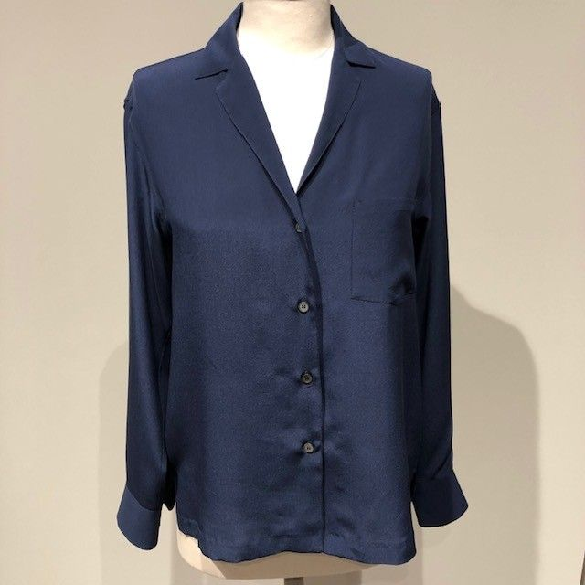Camicia seta blu GUGLIELMINOTTI