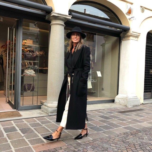 Cappotto nero con visone AVAADORE