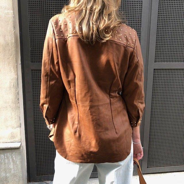 Camicia Giacca borchie terra VINTAGE DE LUXE