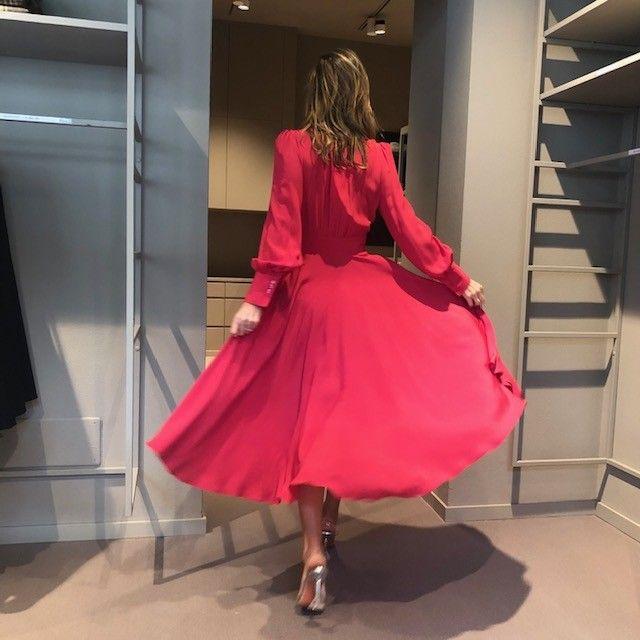 Abito Aurora camicia rosso NG71