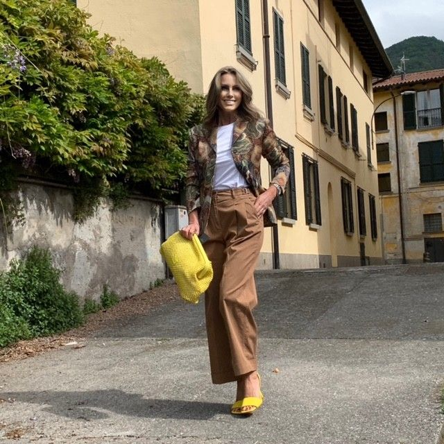 Pantalone cotone cognac CAPPELLINI
