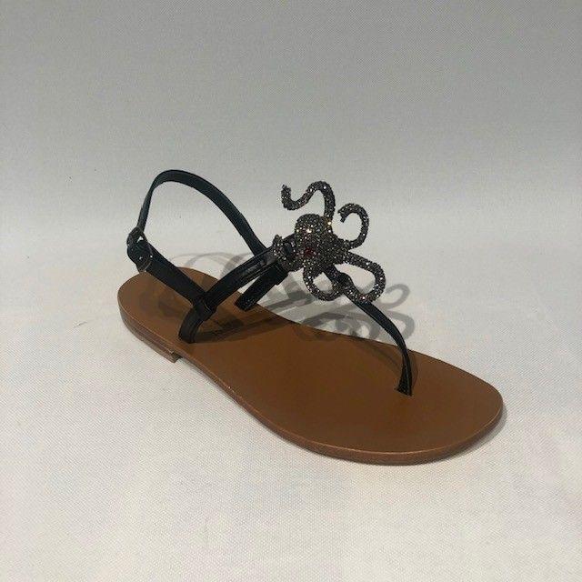 Sandalo nero POSITANO