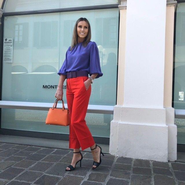 Pantalone Angela arancio NG71