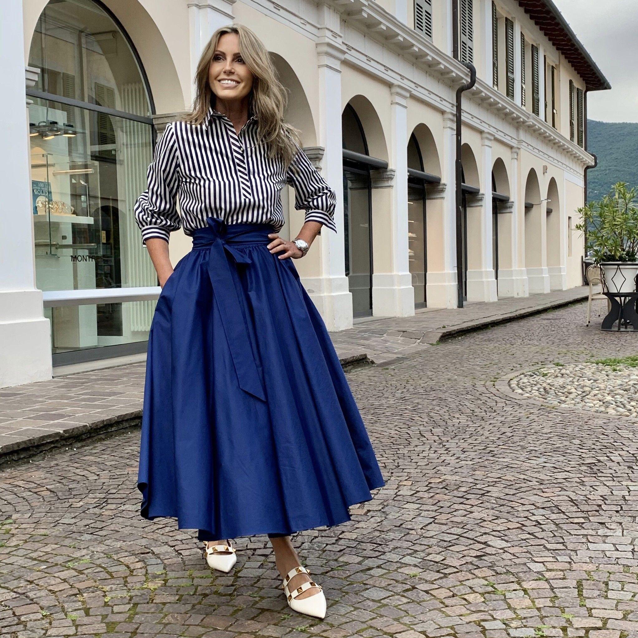 Camicia Rosaria NG71 riga blu