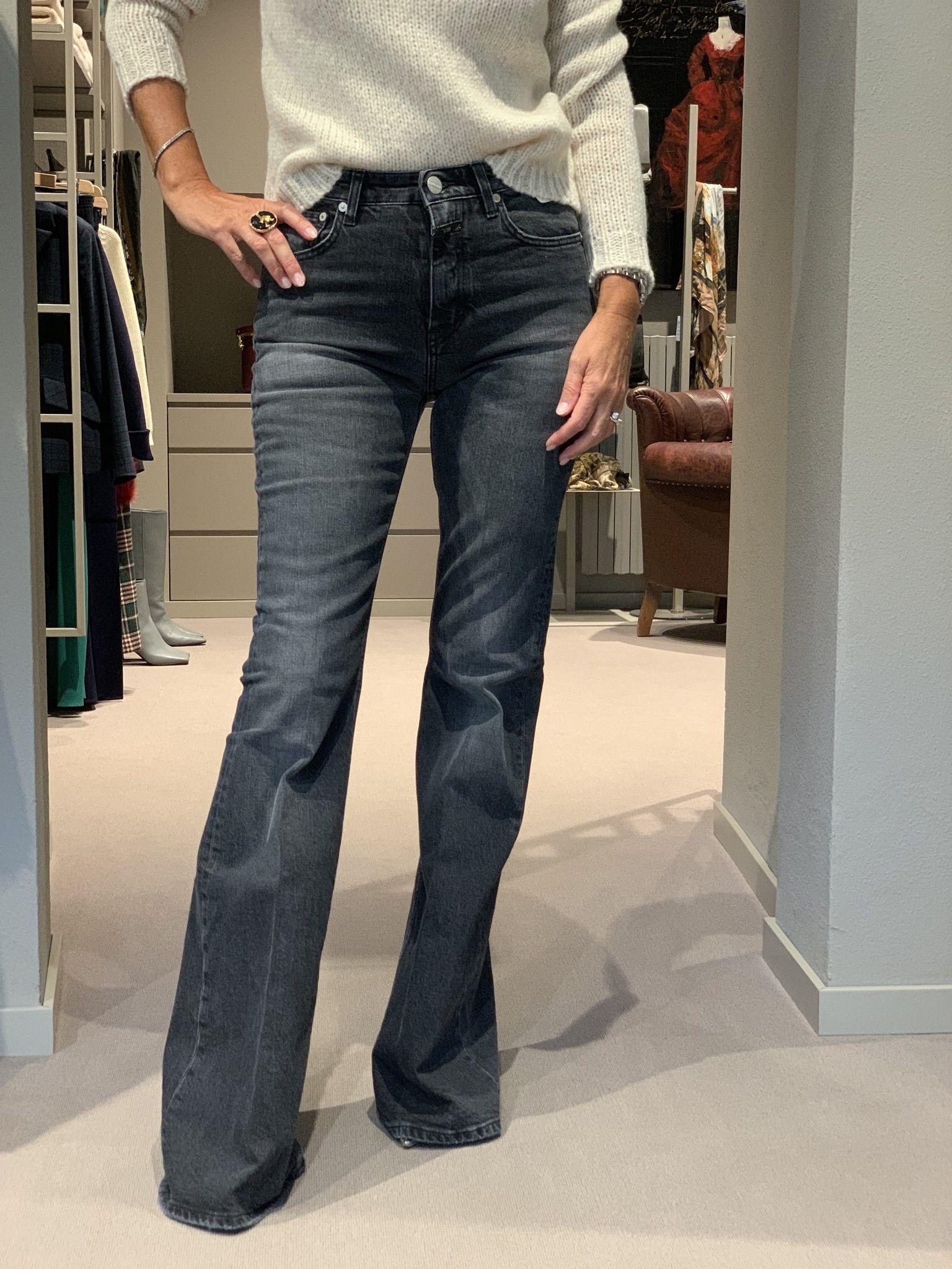Jeans CLOSED zampa grigio scuro