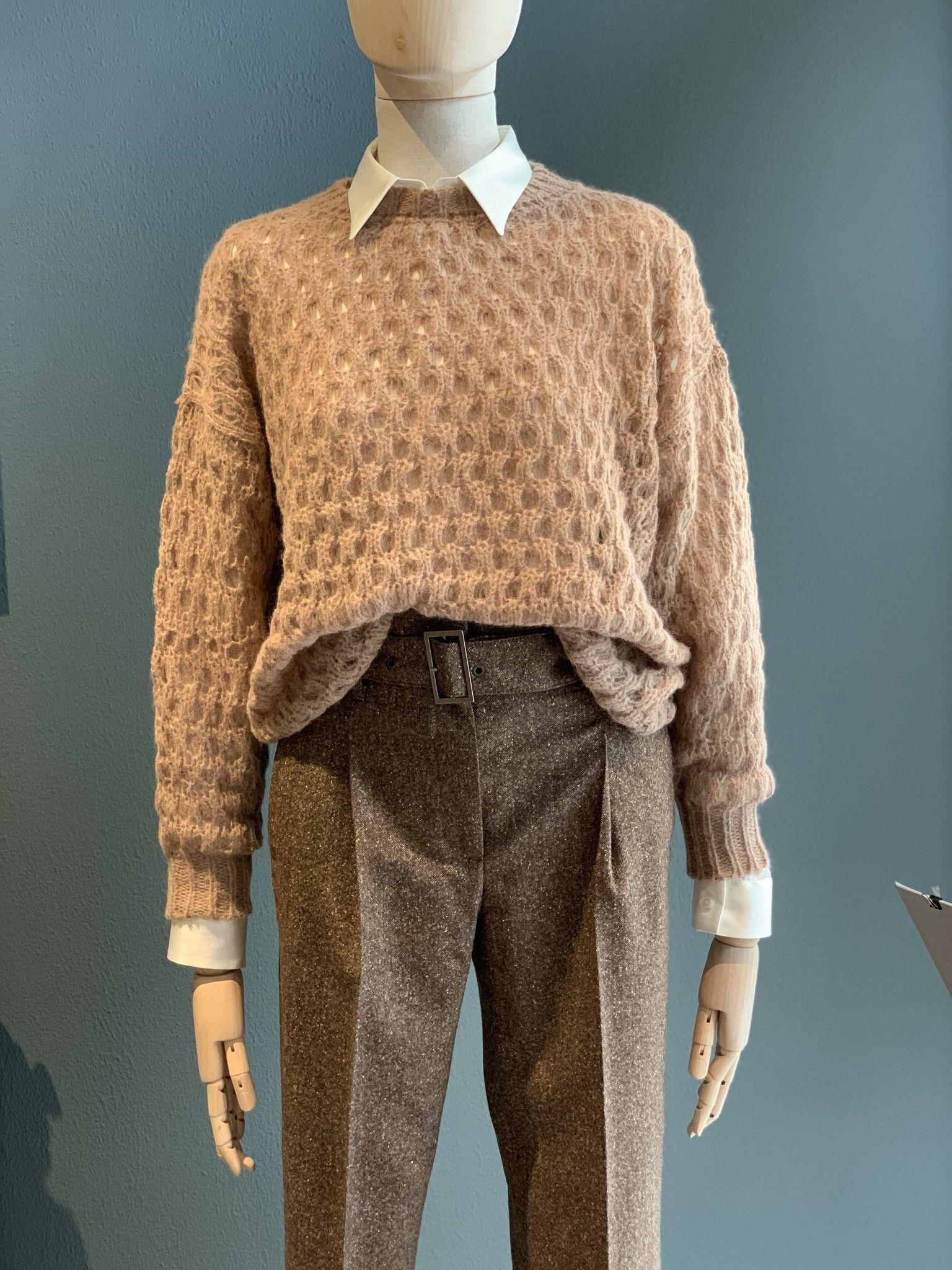 Pantalone con pinces Tweed cioccolato CAPPELLINI