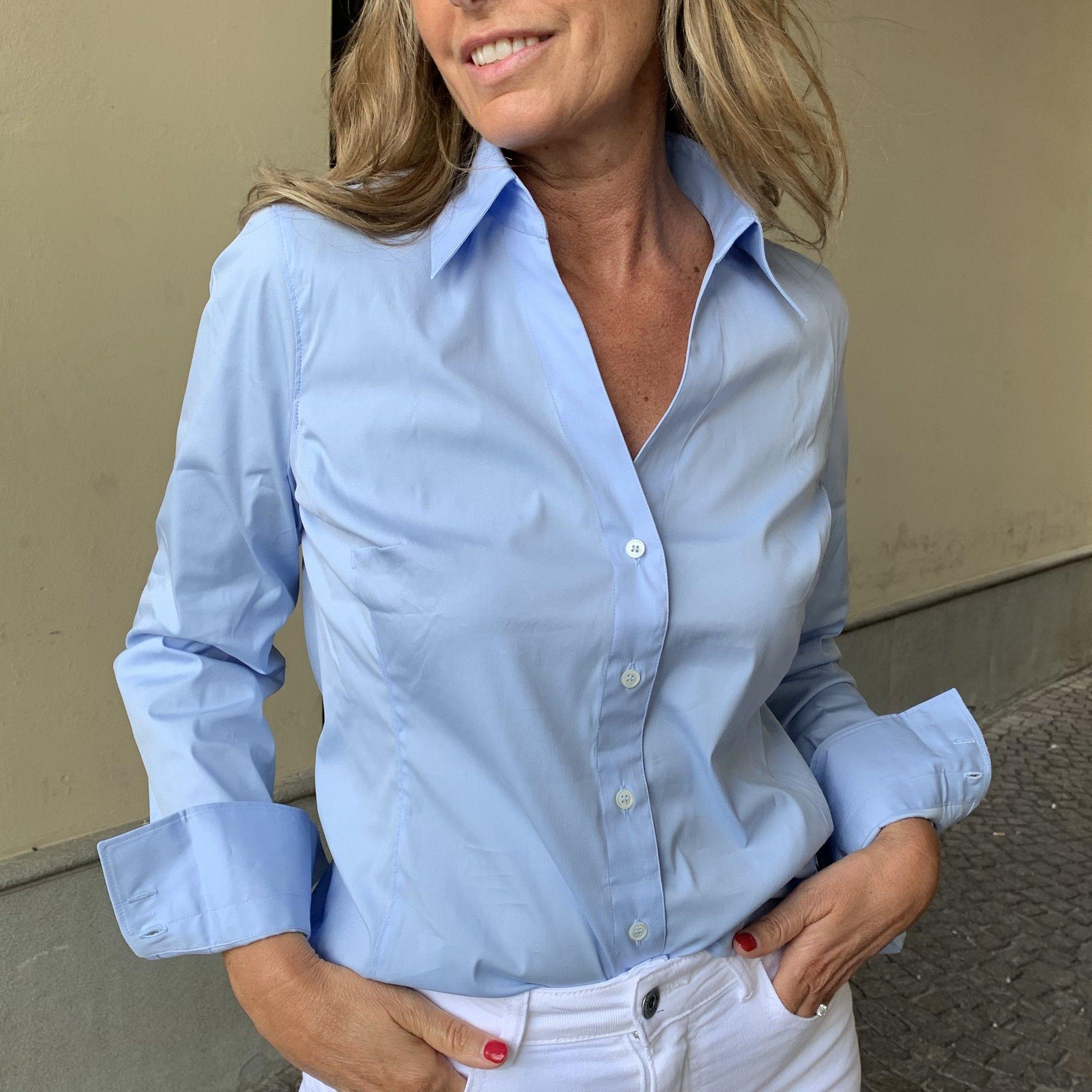 Camicia cotone azzurra Guglielminotti