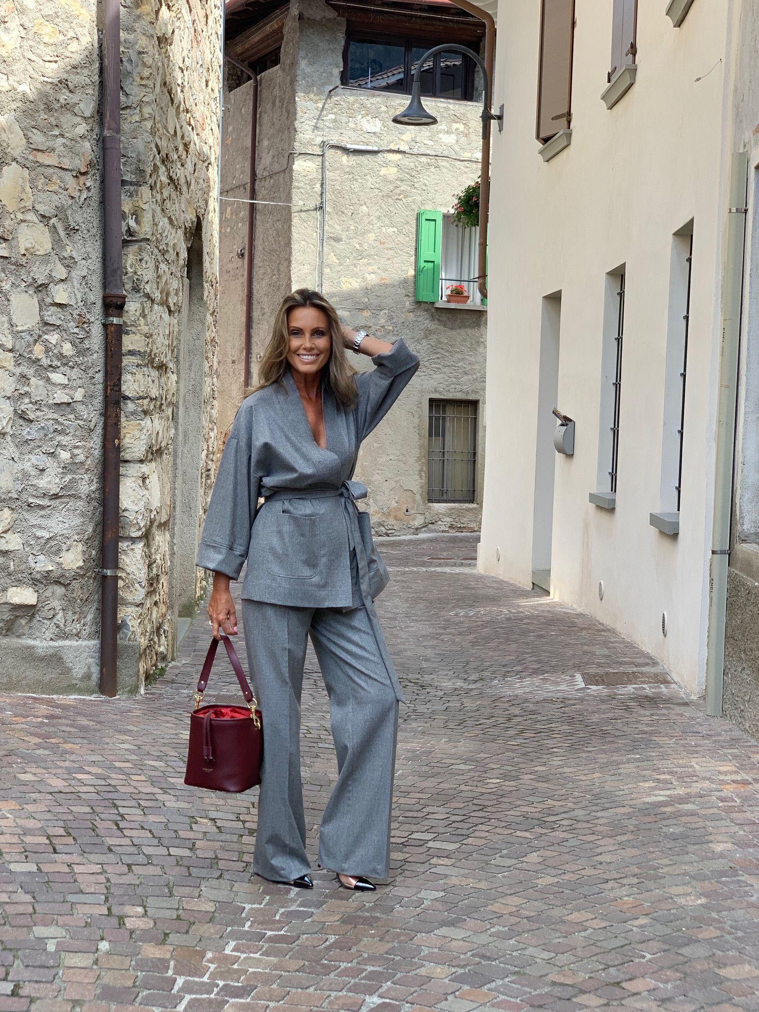 Pantalone palazzo Giulia NG71 grigio