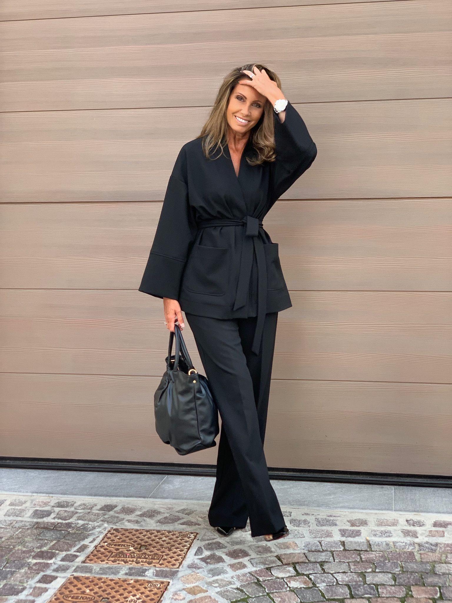 Pantalone palazzo Giulia NG71 nero