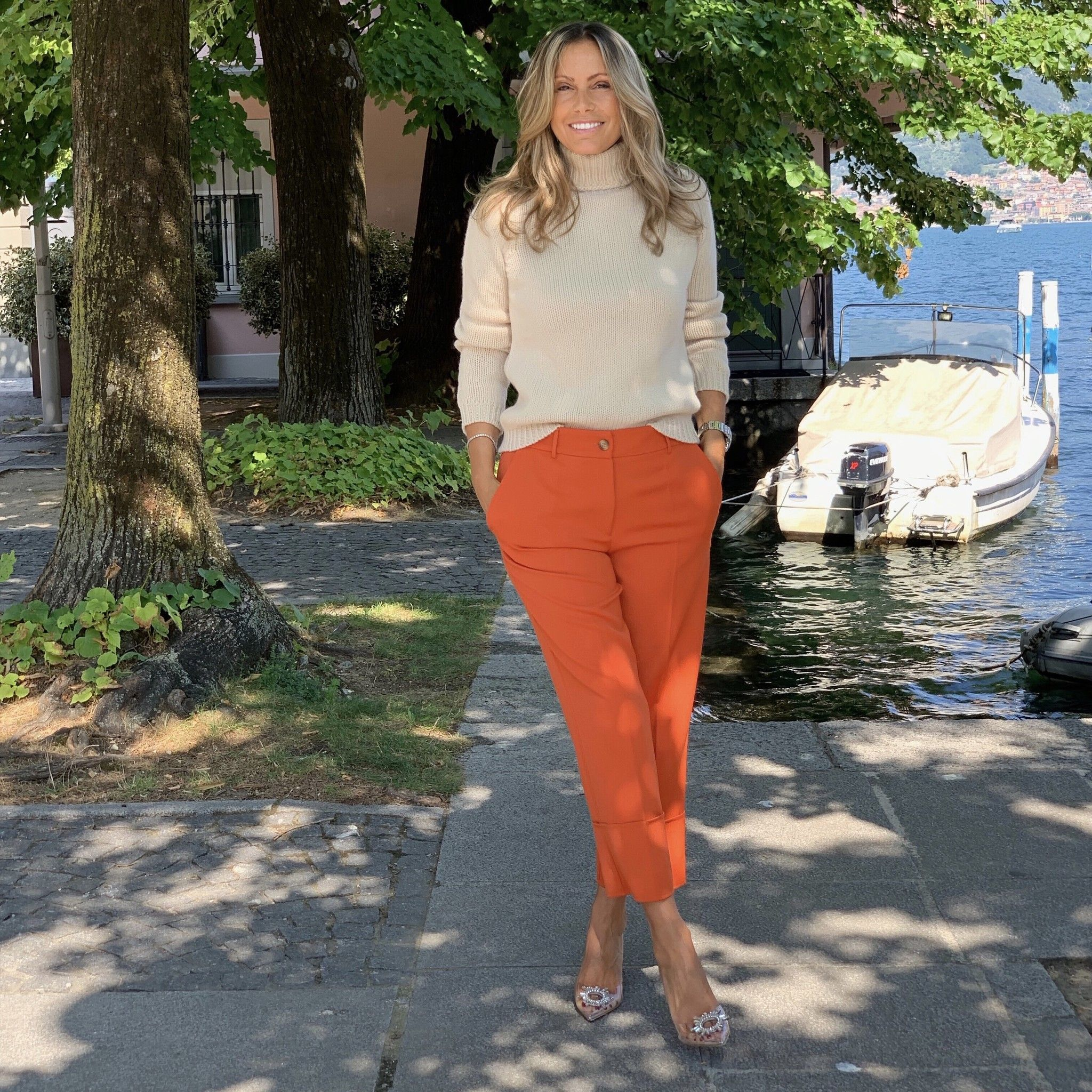 Pantalone Emilia NG71 arancio