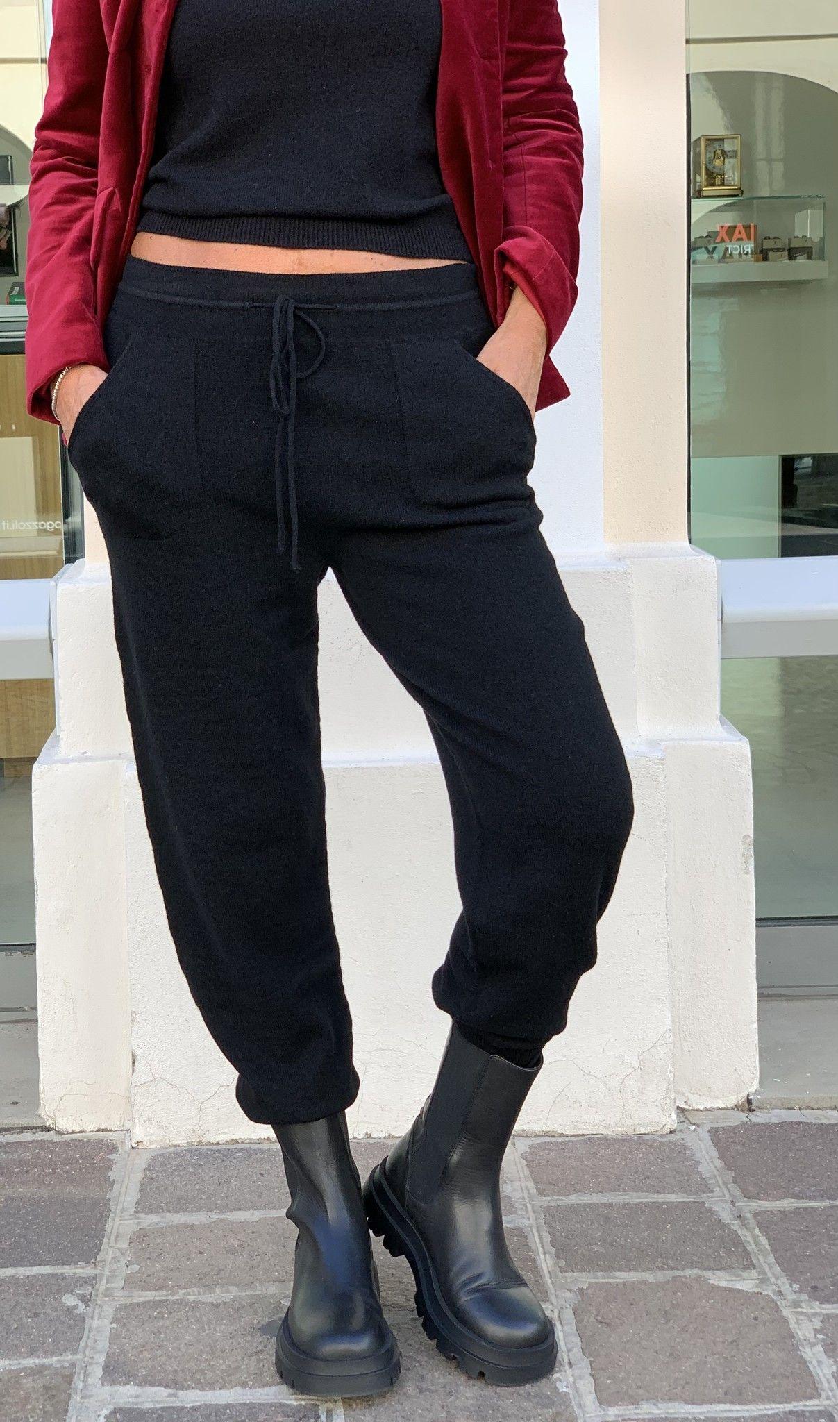 Pantalone tuta nero VANISE'