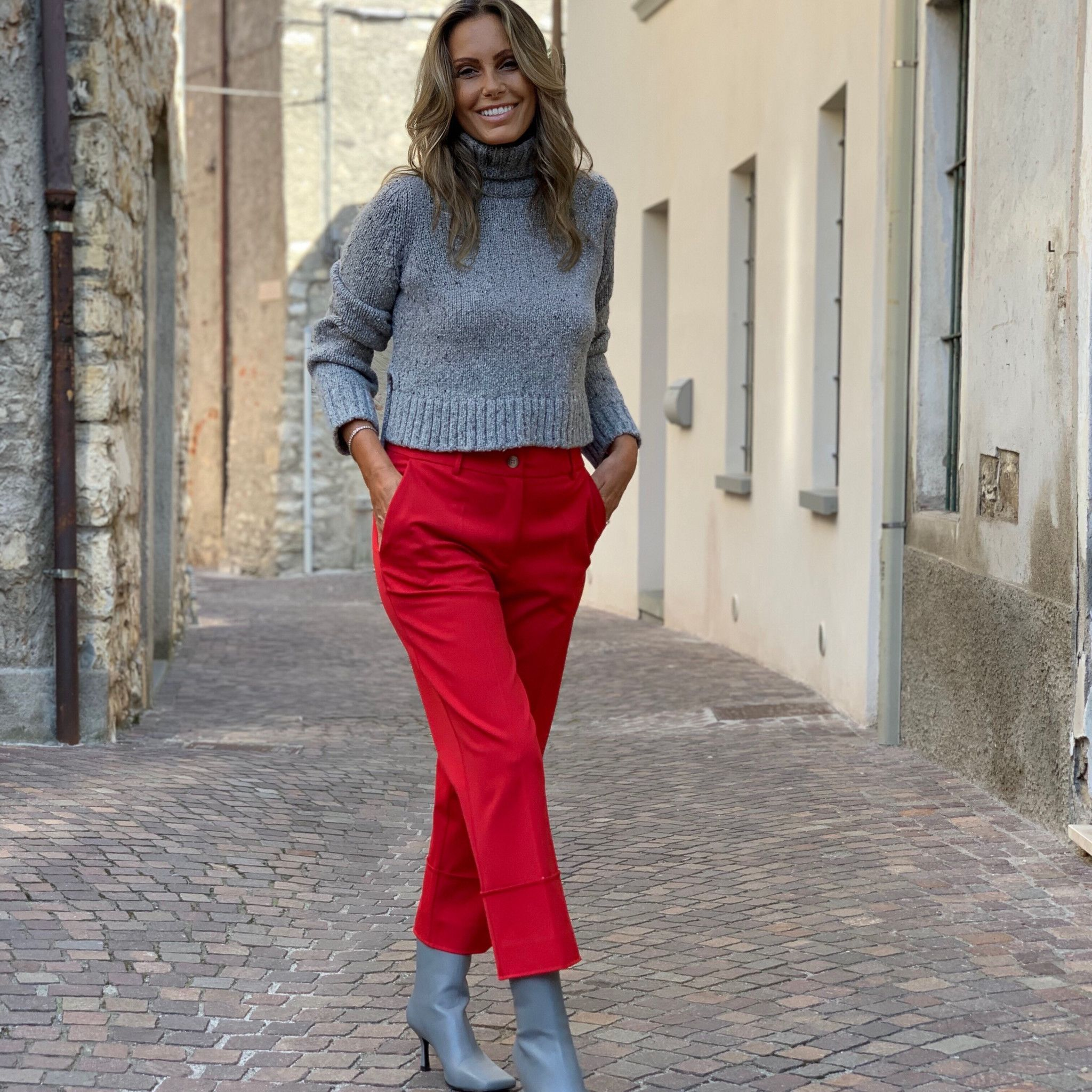 Pantalone Emilia NG71 rosso