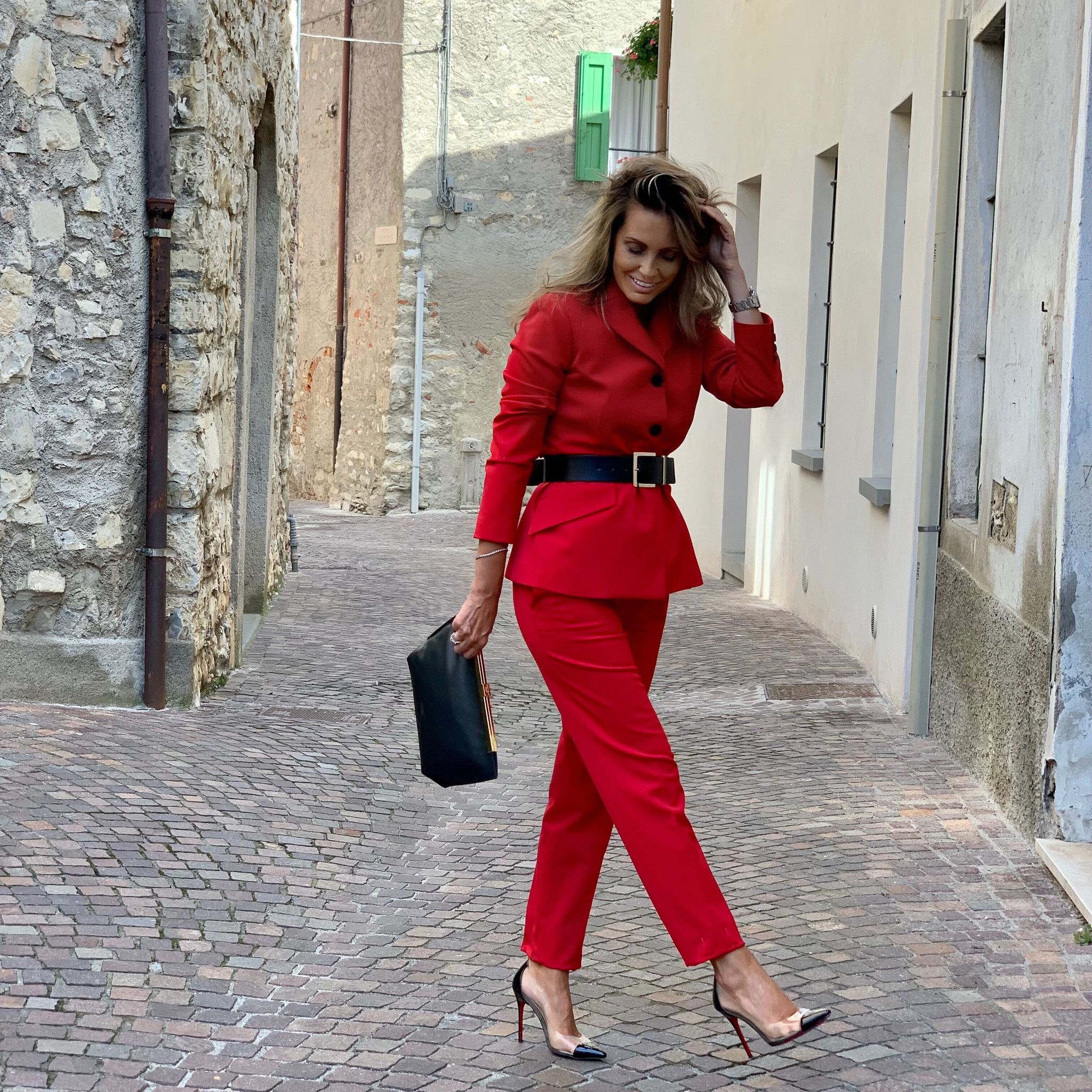 Tailleur rosso MARTINELLY