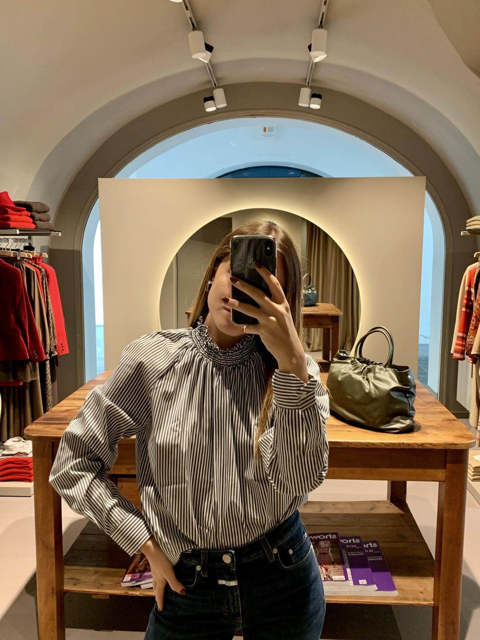 Camicia riga verdone GUGLIELMINOTTI cotone