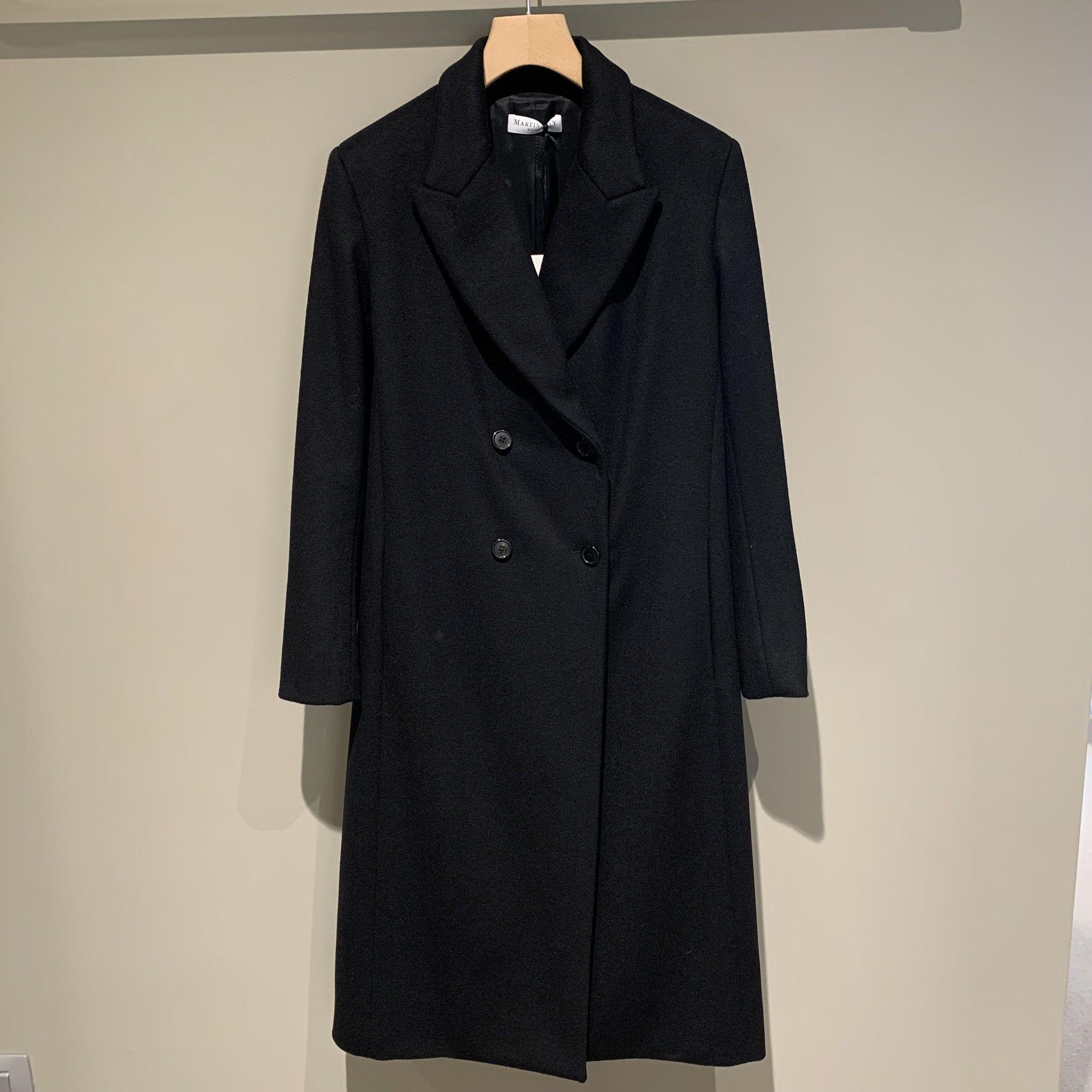 Cappotto doppiopetto nero MARTINELLY