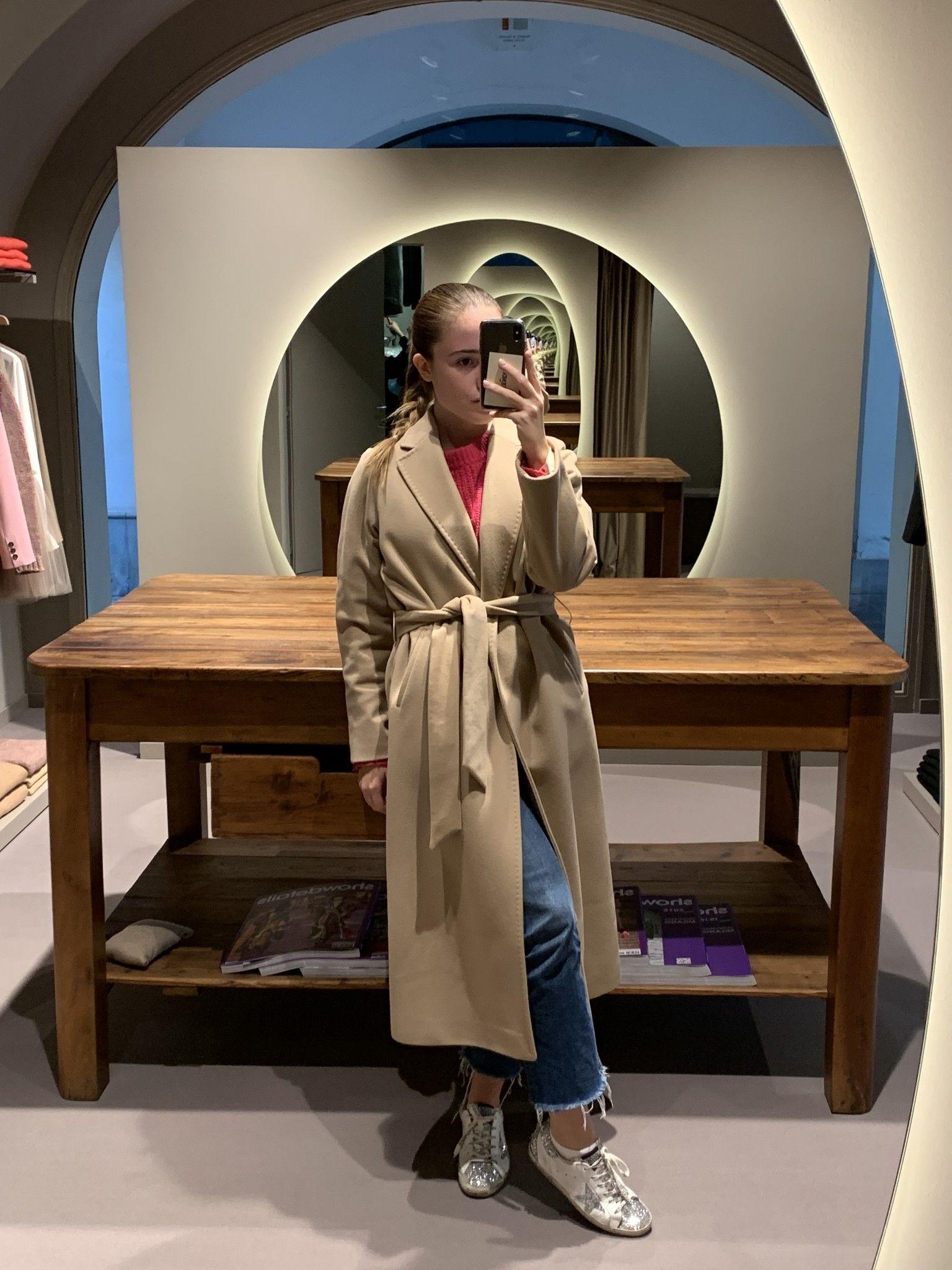 Cappotto cammello con cintura CHIARULLI