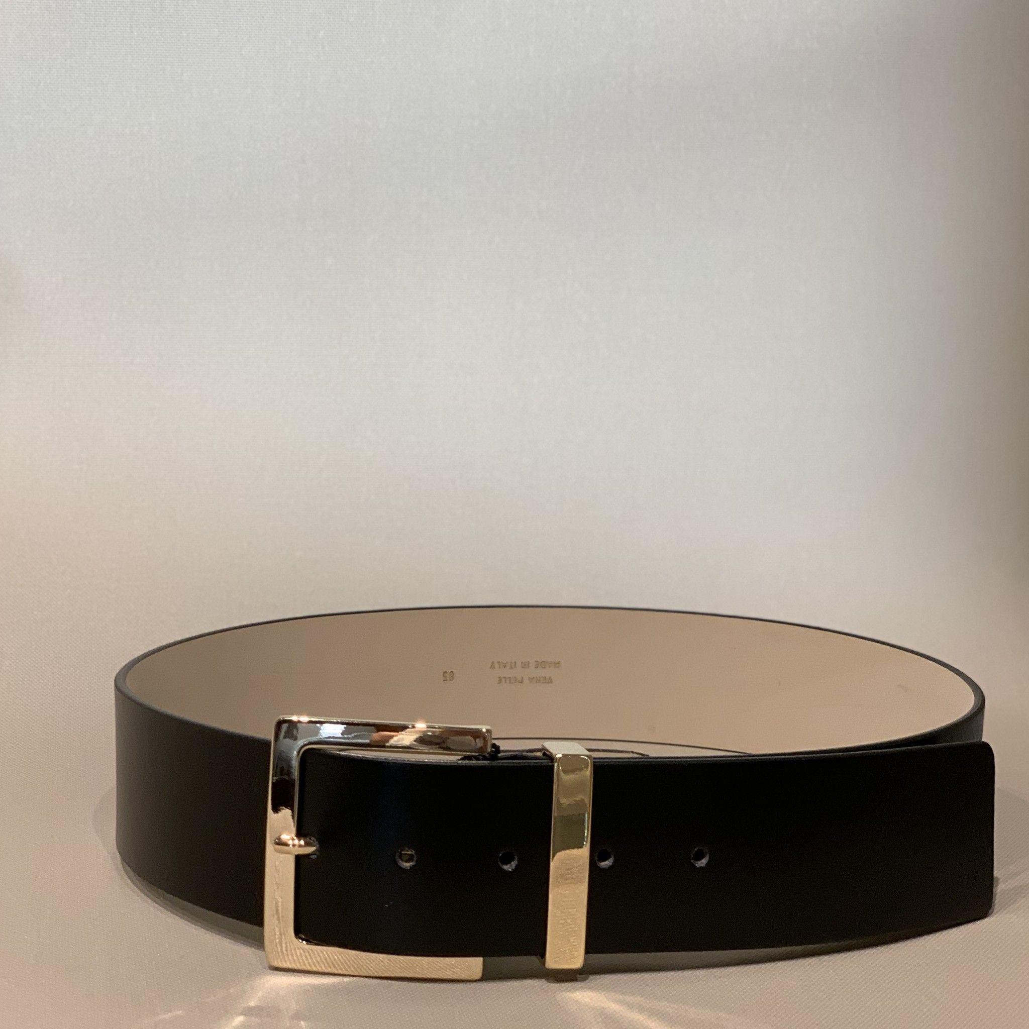 Cintura pelle  nera PELLETTERIA G4