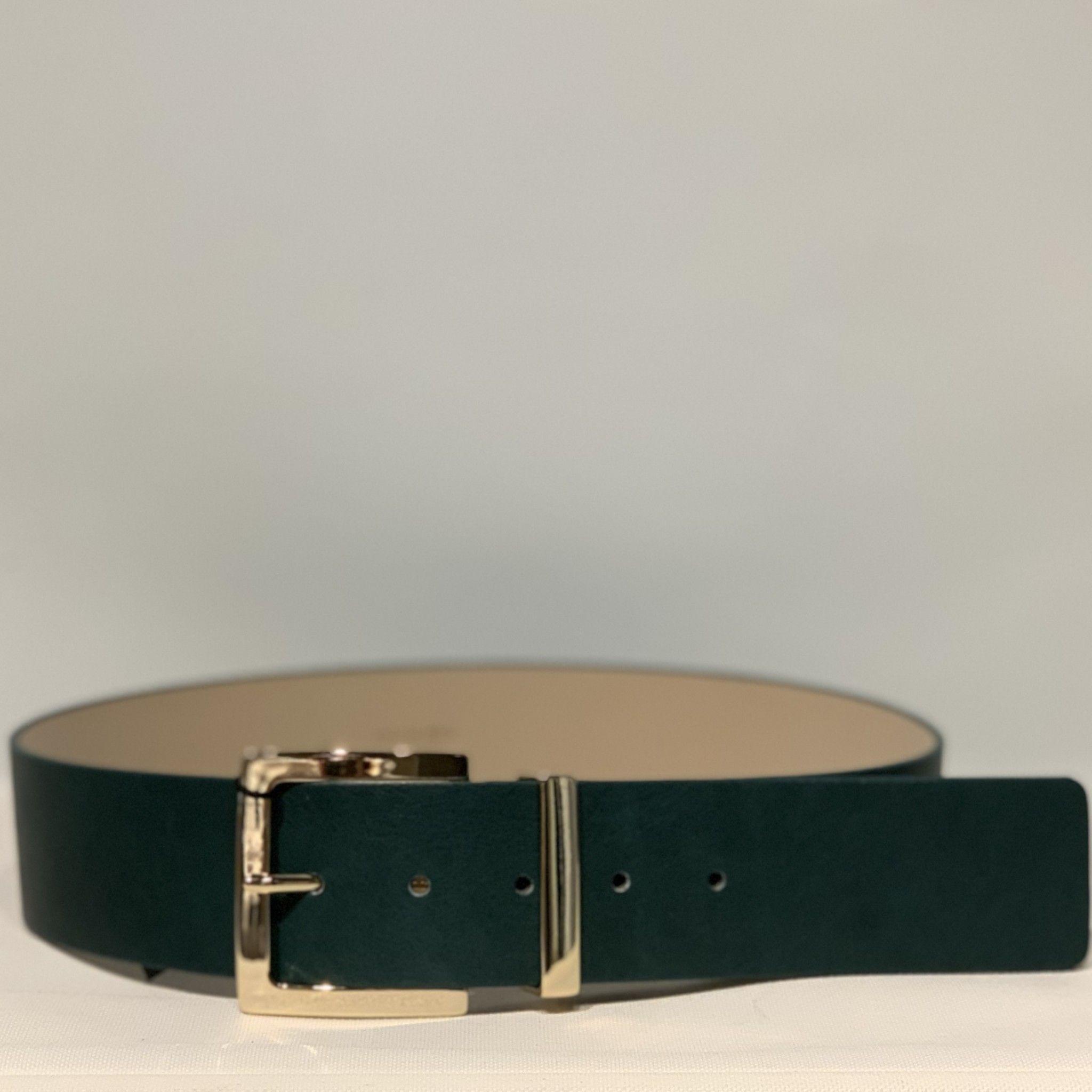 Cintura pelle verdone PELLETTERIA G4