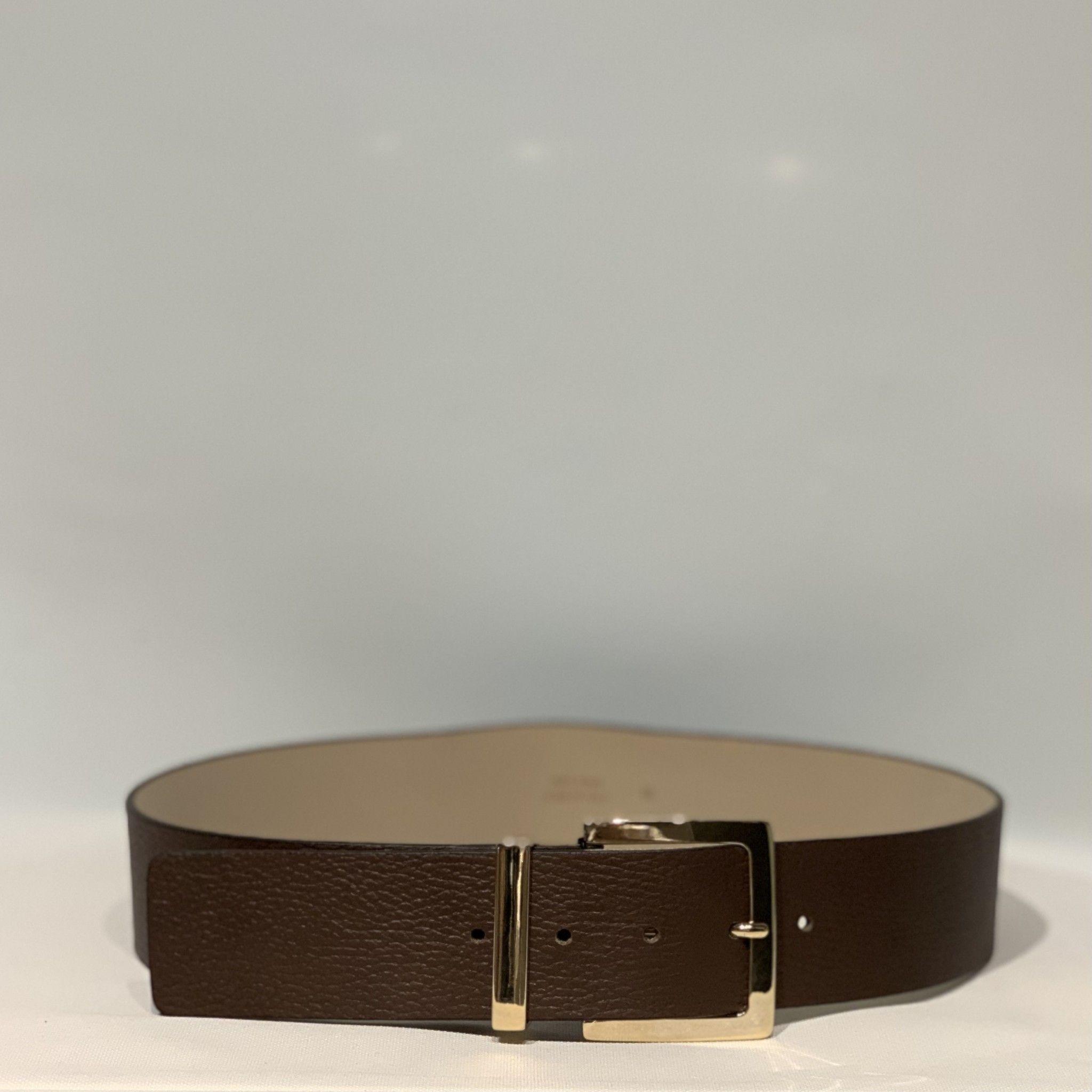 Cintura pelle marrone PELLETTERIA G4