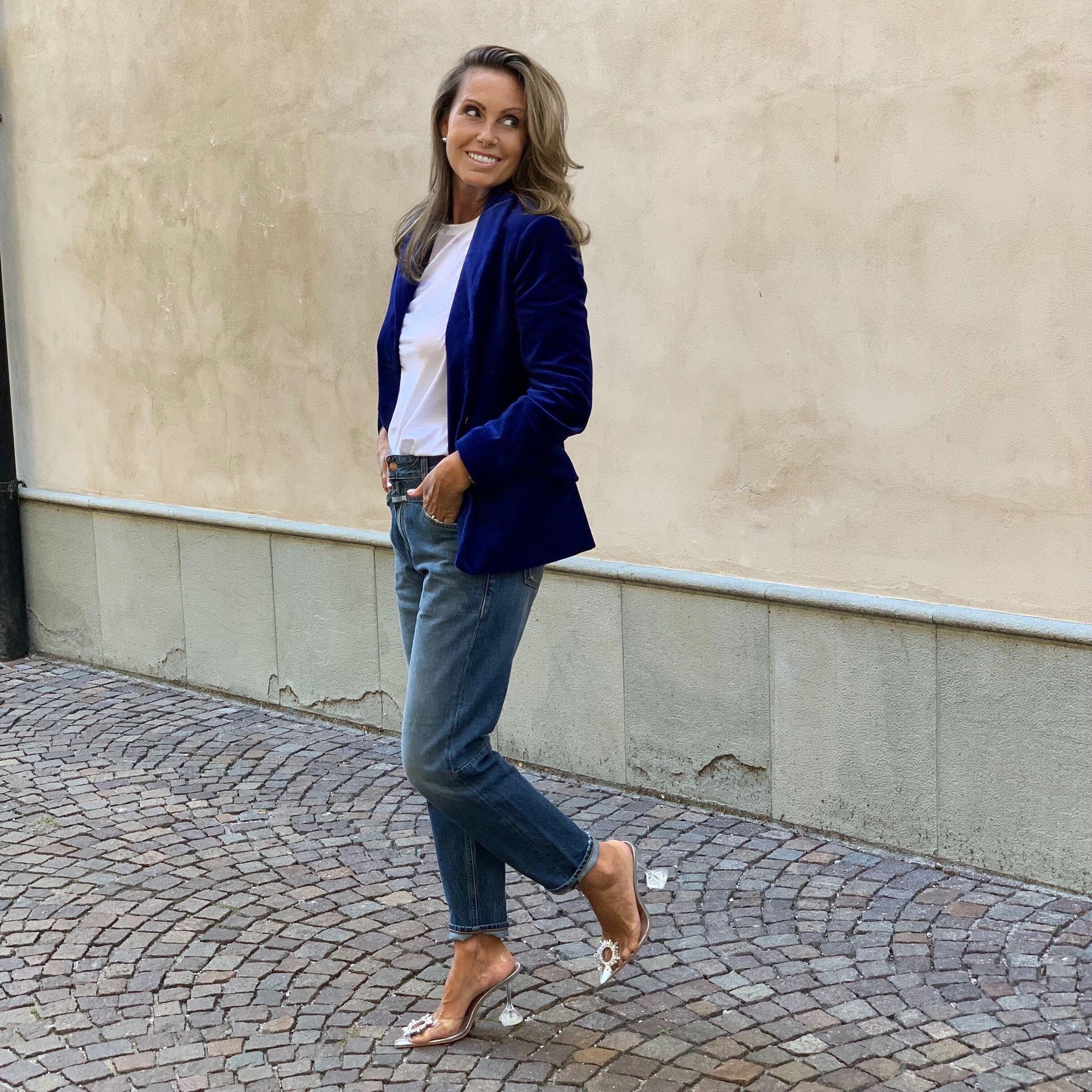 Giacca velluto blu cina MARTINELLY