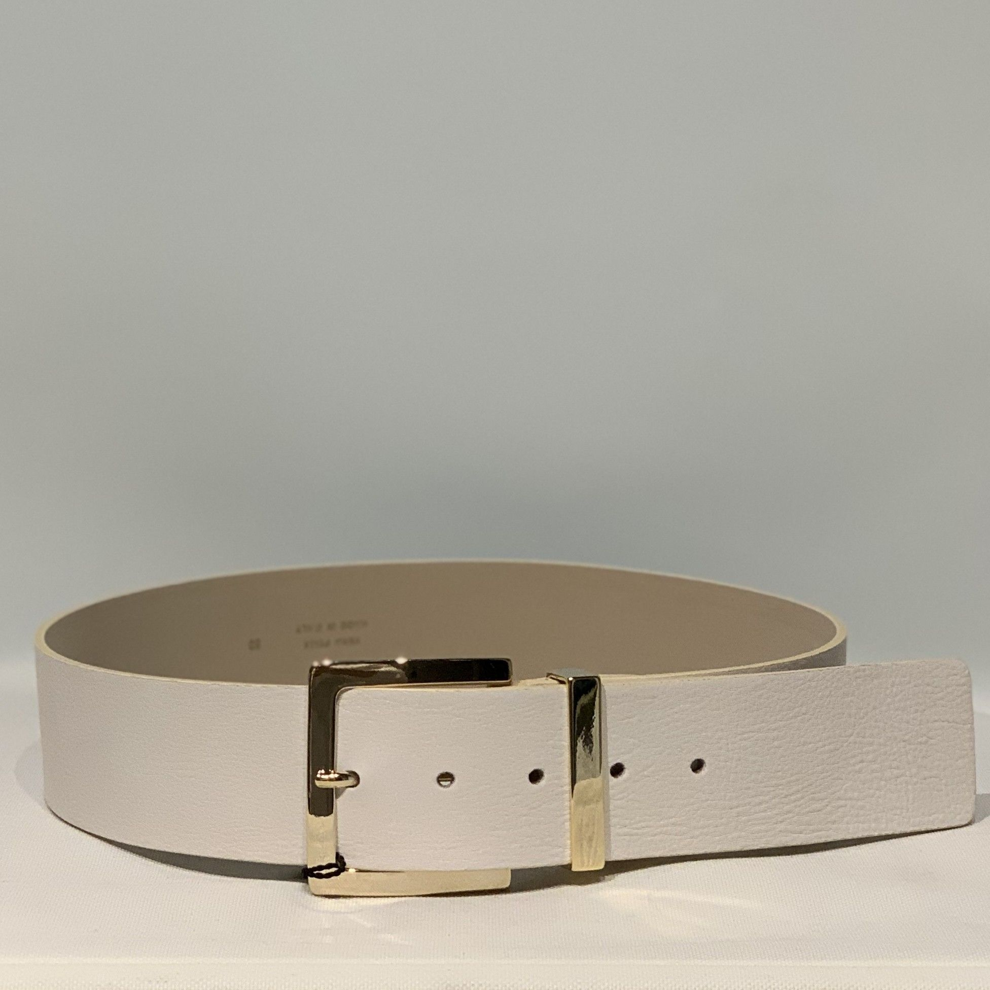Cintura pelle panna PELLETTERIA G4