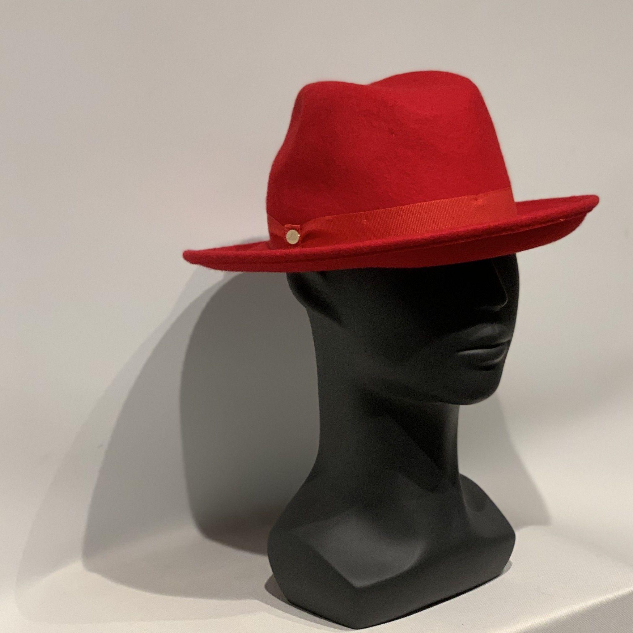 Cappello rosso MANZONI CAPPELLI
