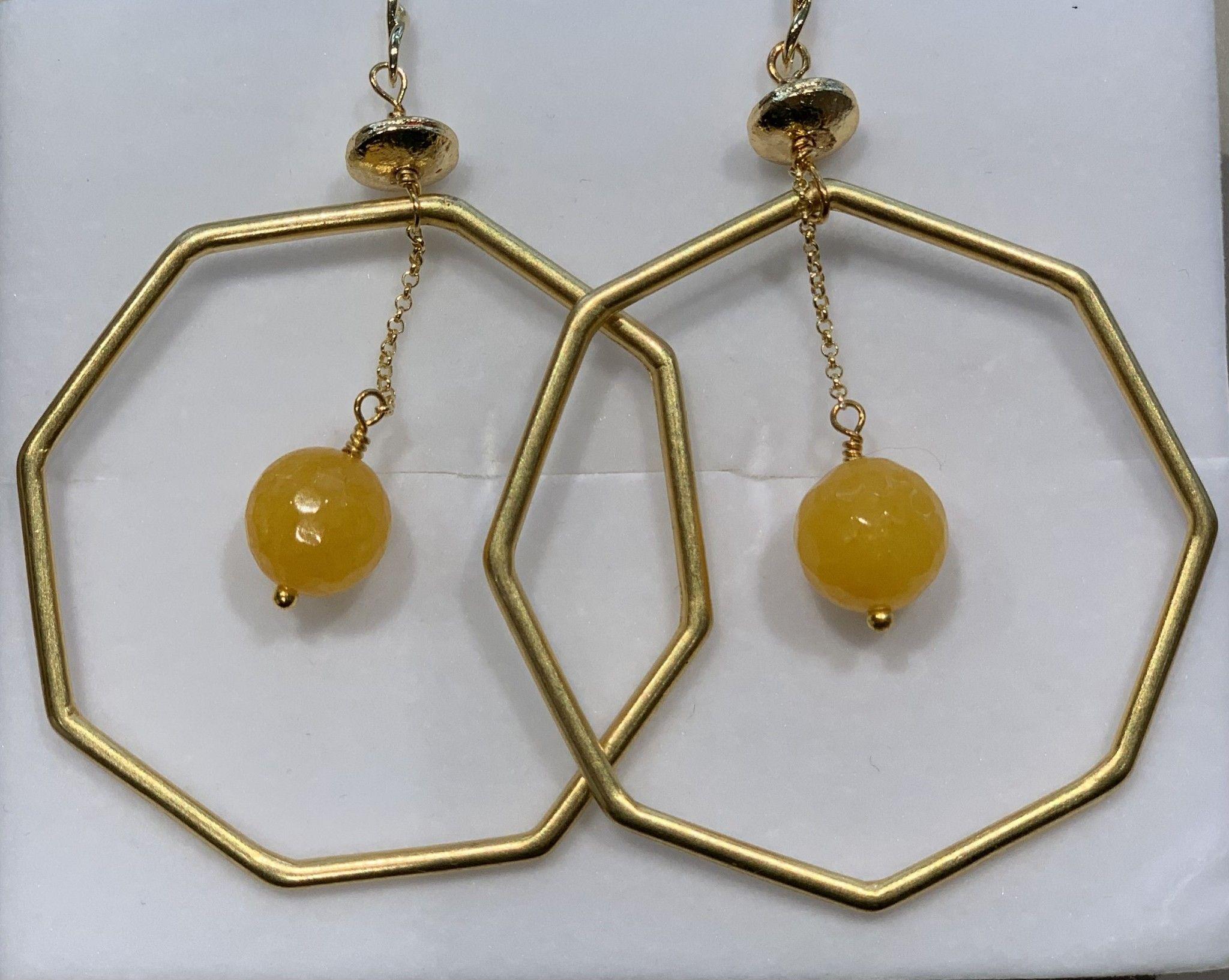 Orecchino pietra ambra COSTACURTA