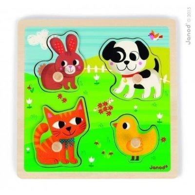 JANOD 07080 PUZZLE TATTILE I MIEI PRIMI ANIMALI