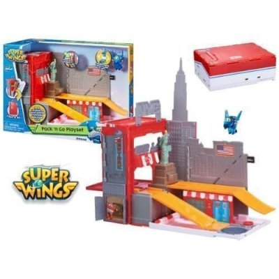 SUPERWINGS PLAYSET PACK & GO AVVENTURA A NEW YORKC/1 PERSONAGGIO