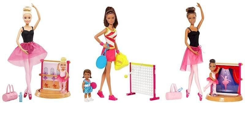 BARBIE SPORTIVE PLAYSET ASSORTITE DVG13