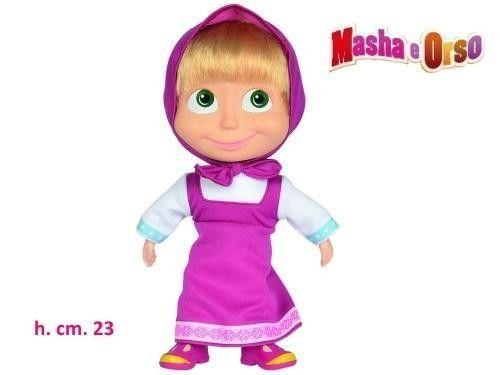 Bambola Masha cm.23 corpo morbido, viso in vinile e capelli veri