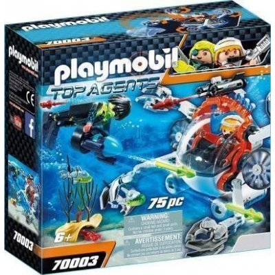 PLAYMOBIL 70003 GRANCHIO SUBACQUEO TOP AGENTS