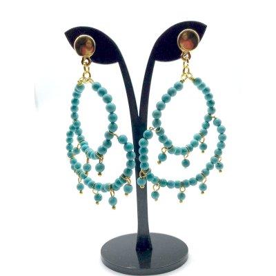 Orecchini chandelier in aulite