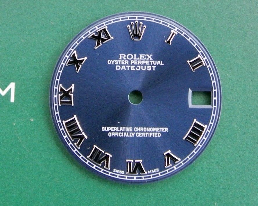 Rolex datejust blu romani 31 mm 68240-17824-168274-78274 originale