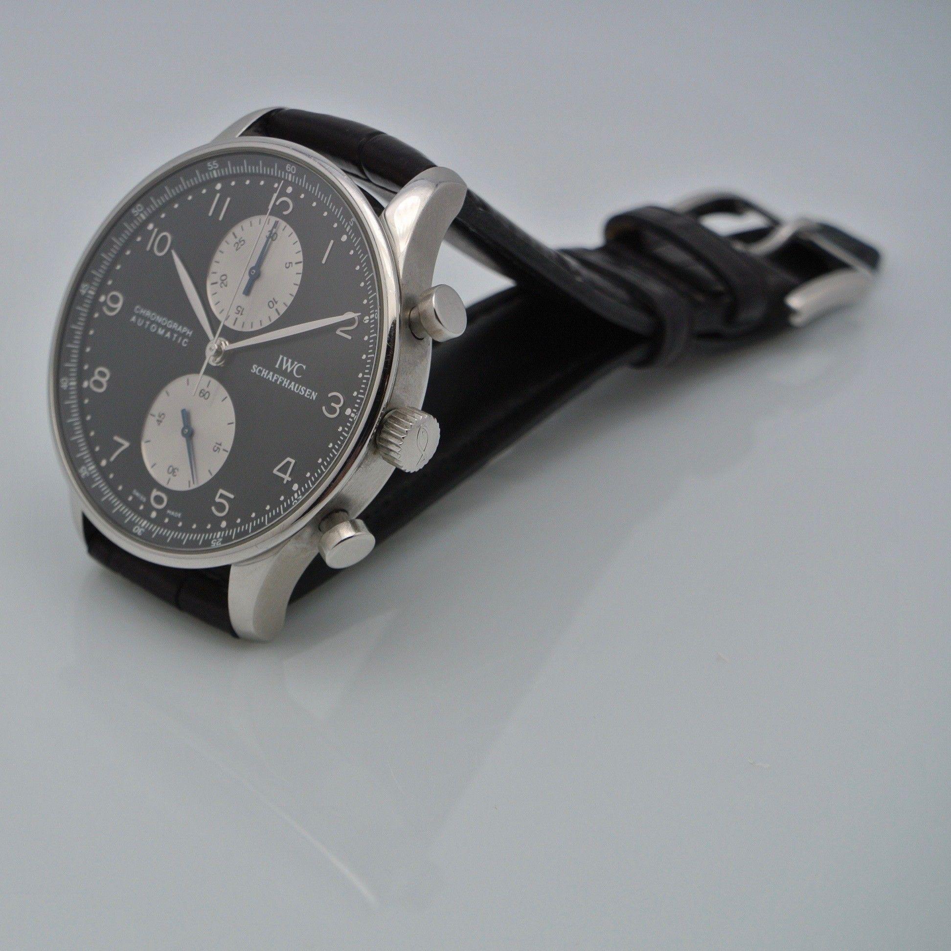 IWC Portoghese Chronograph black steel