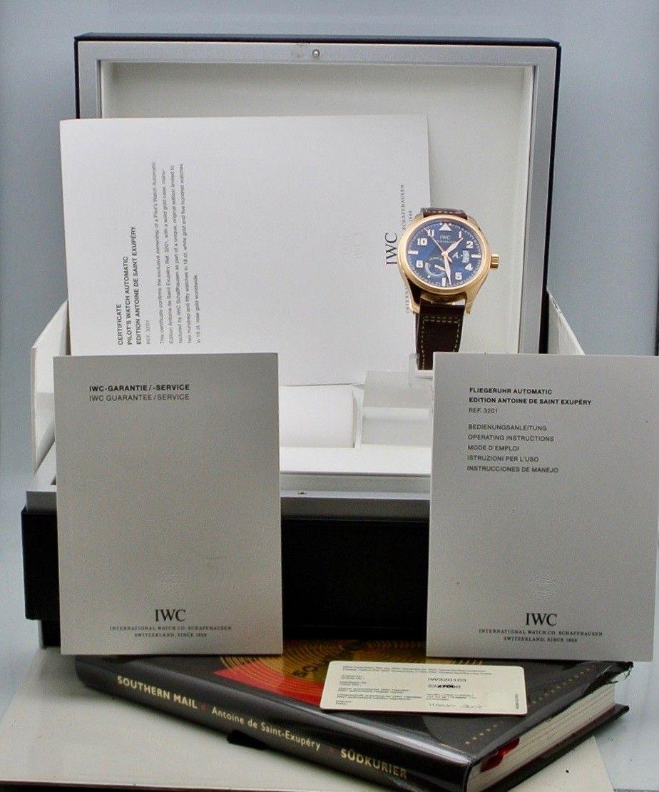 IWC Pilot Pover Reserve A. de Saint Exupery Rose Gold Limited Edition