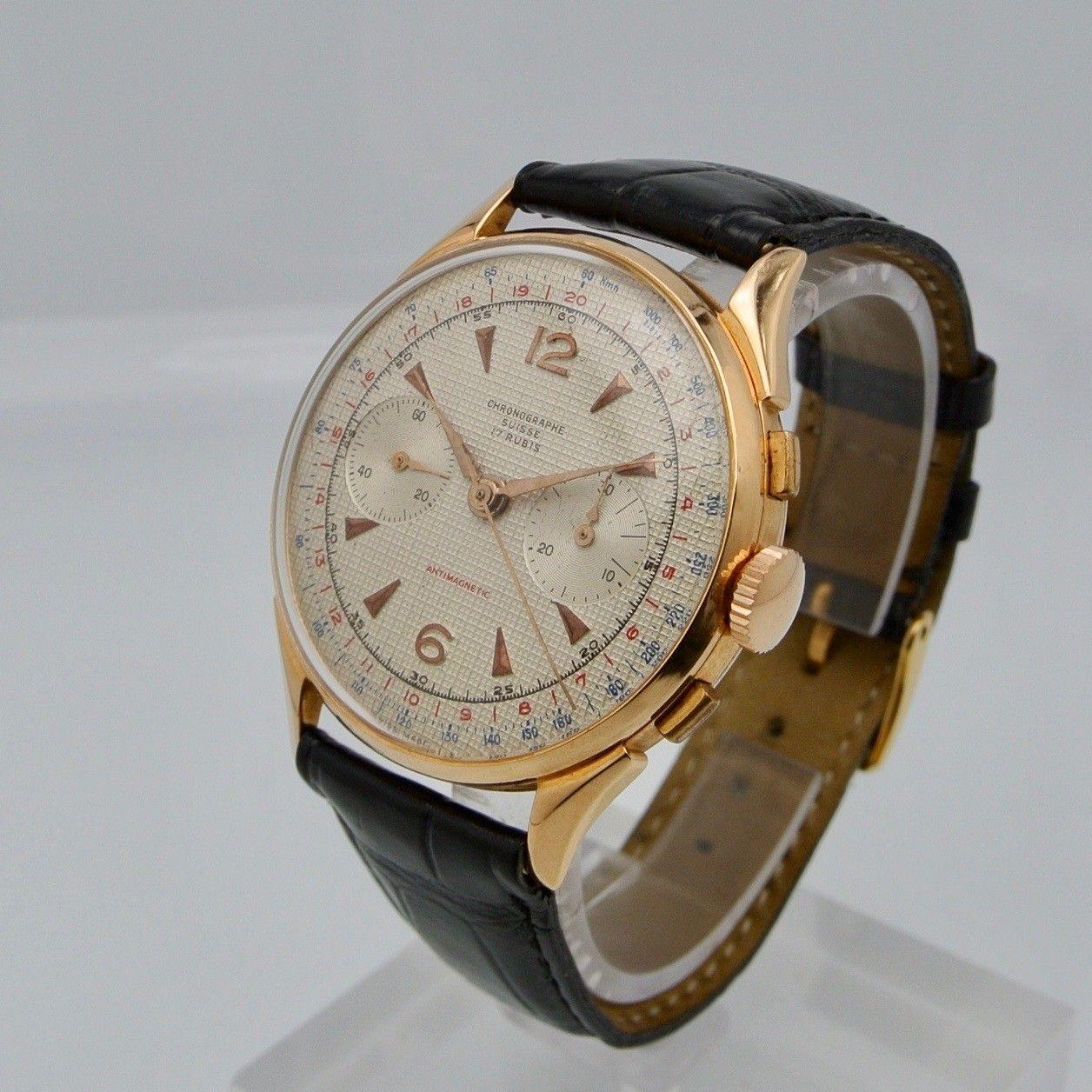 Cronograph Suisse oro giallo