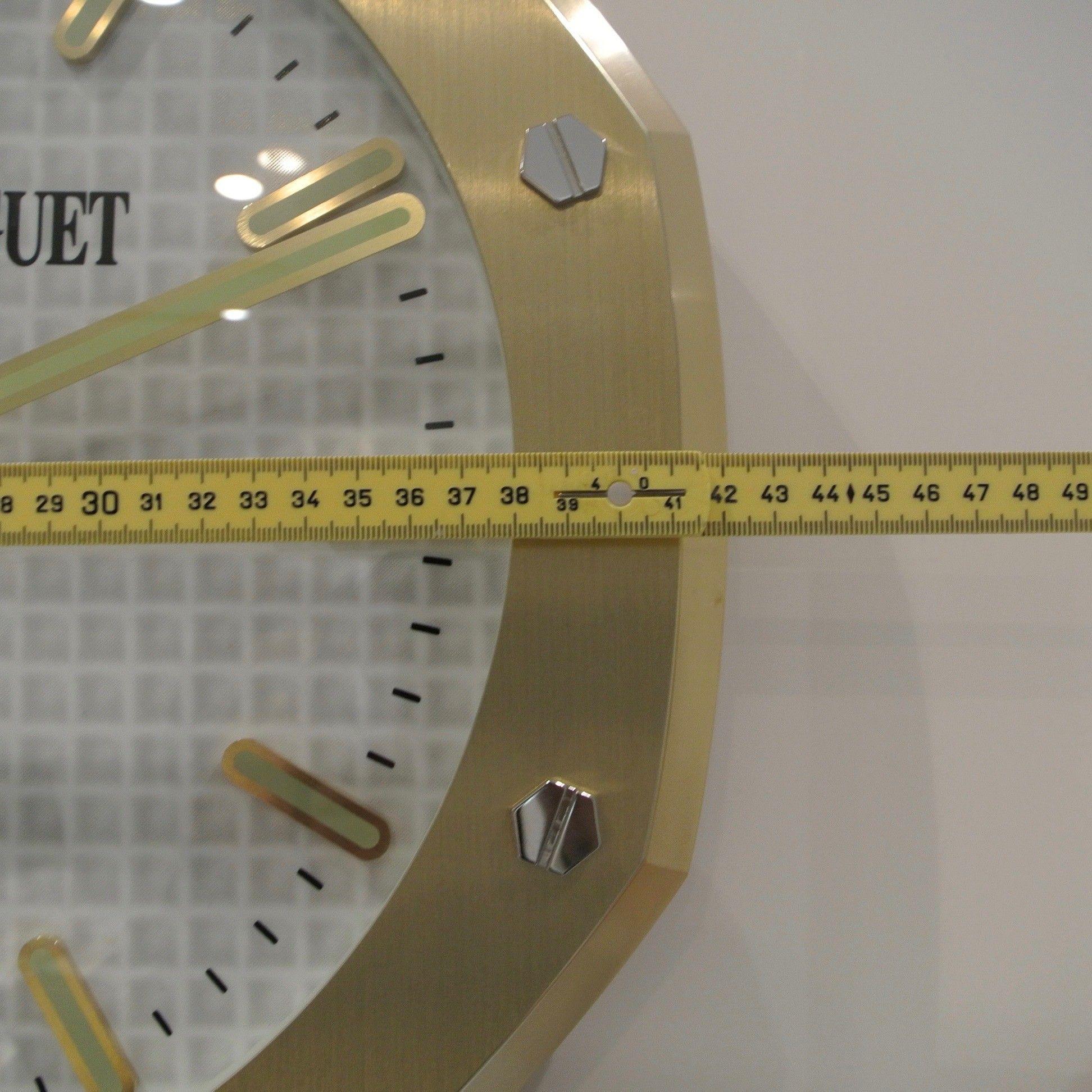 Audemars Piguet Original Wall Clock Big Model Type Plated Yellow Gold