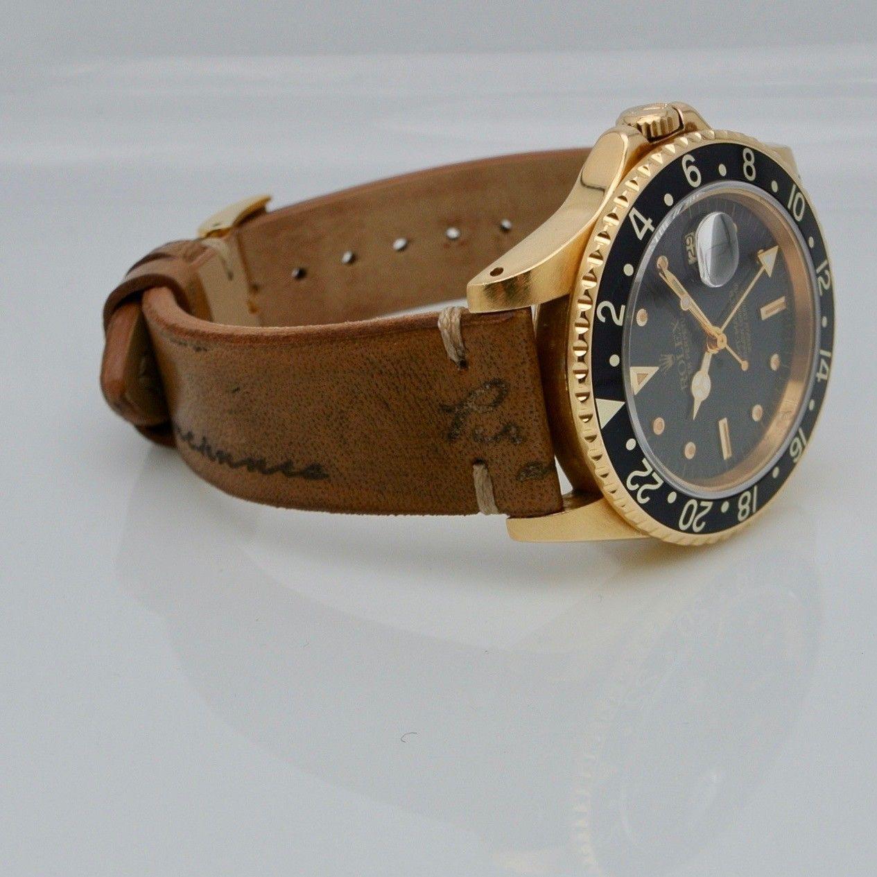 Rolex GMT-Master oro giallo nipple dial