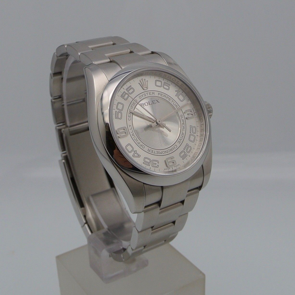 Rolex Oyster Perpetual 36 Silver Concentric Dial